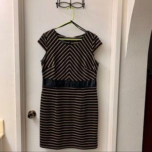 Alyx black & gold striped dress